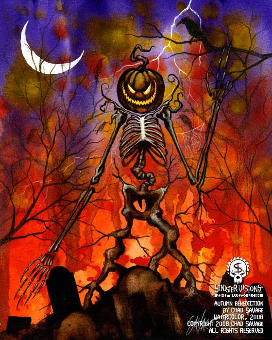 Halloween Art - The Dark Art of Chad Savage