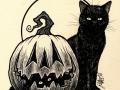 Still Life with Feline & Gourd