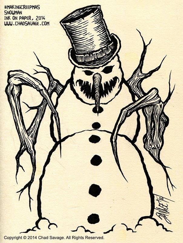 Making Creepmas - Snowman