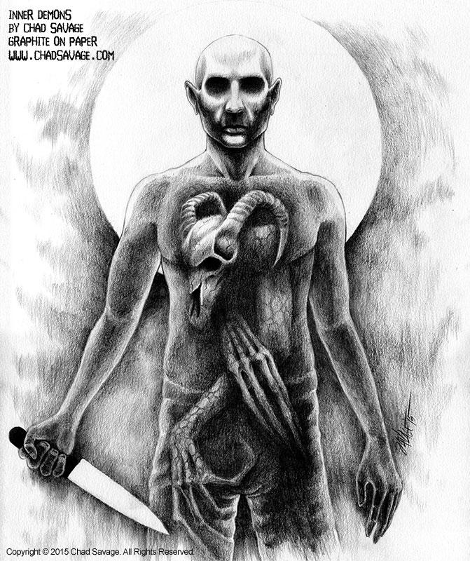 Inner Demons - Artwork by Chad Savage