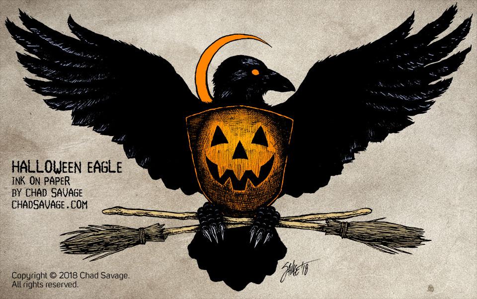 Halloween Eagle by Chad Savage
